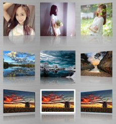 html5图片倒影效果源码 3d相册图片倒影效果代码
