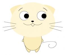 css3绘制卡通可爱的小猫动画,眼睛跟随鼠标移动转动效果