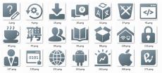2018新版论坛板块图标png下载,IT技术交流论坛图标png素材