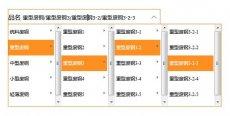 jQuery类似淘宝发布宝贝商品分类四级联动菜单选择代码
