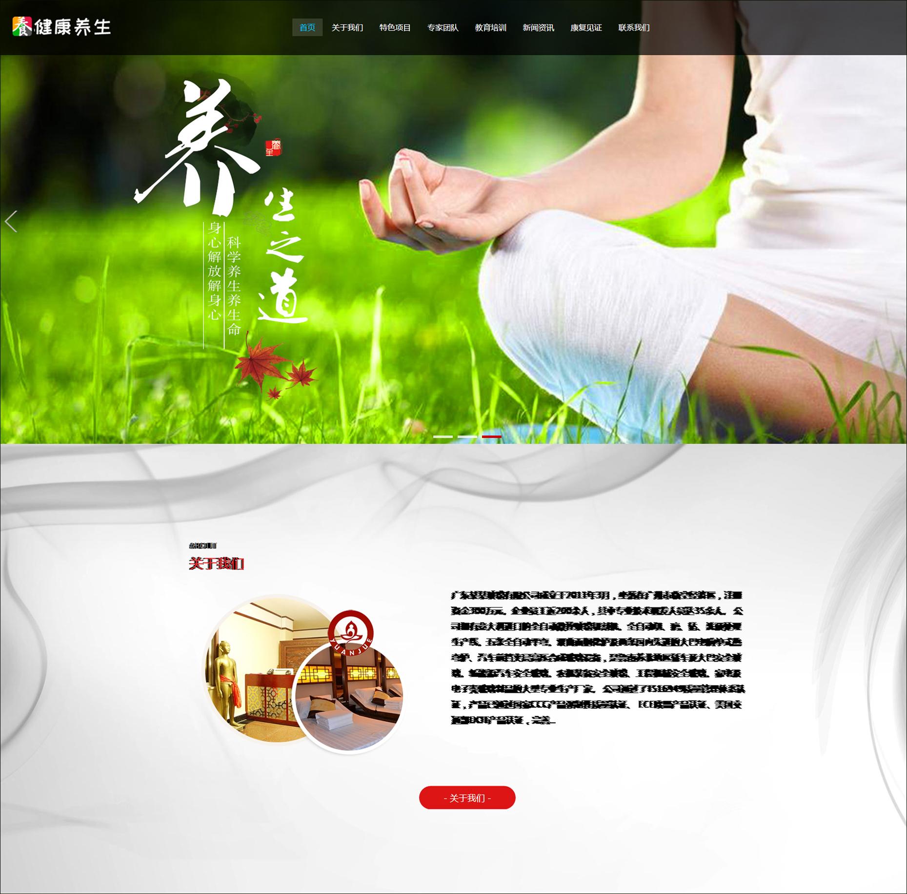 HTML5响应式经络养生健康网站源码 DEDECMS织梦模板(自适应手机端
