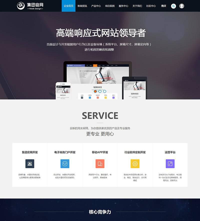 discuz模板-高端企业_集团官网模板 商业版