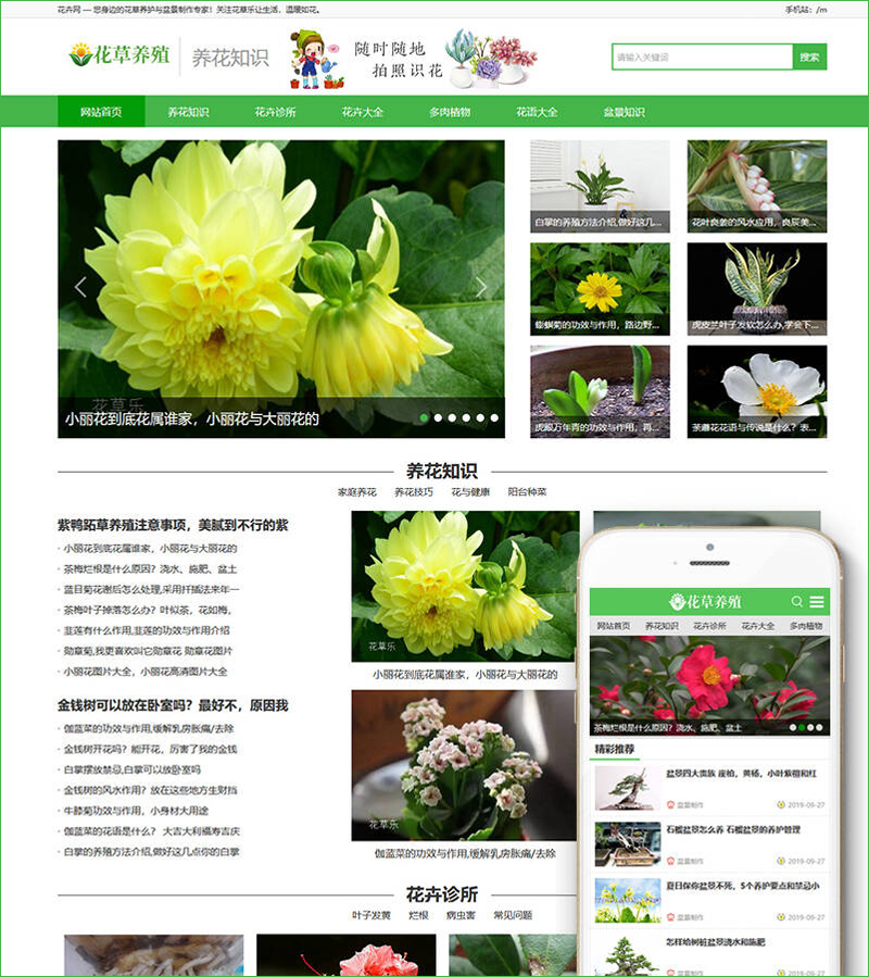 DEDECMS织梦模板-大气花卉养殖新闻资讯网站