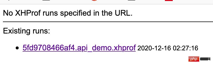 一个查看xhprof数据文件的docker镜像