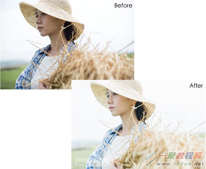photoshop日系小清新通透人像调色后期处理教程