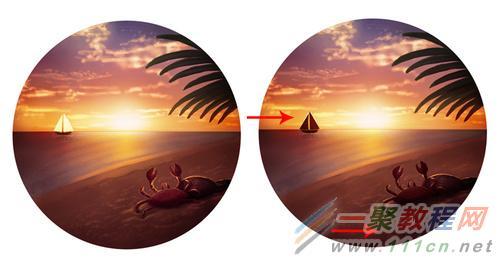 photoshop给手绘画调色变换场景后期教程