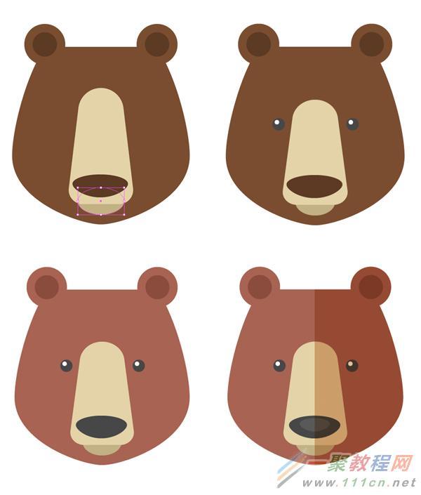 > illustrator绘制六个扁平化风格卡通小动物肖像教程   让矩形的角变