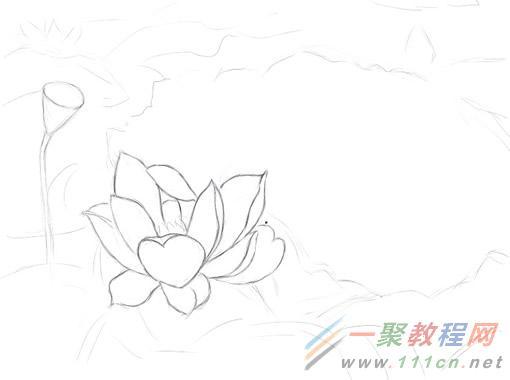 painter绘制水彩画荷花教程