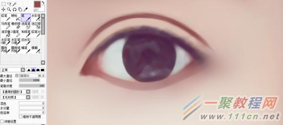 photoshop转手绘眼睛的画法教程
